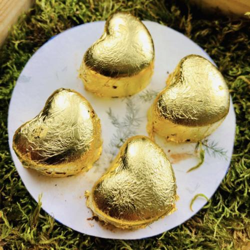 Złote serca - deser